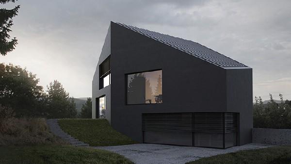 maison, image de synthèse, 3d, renderign